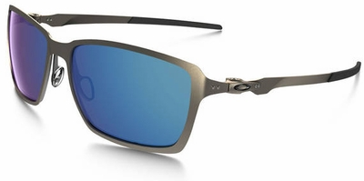 Oakley Tincan Sunglasses with Light Frame and Ice Iridium Lenses