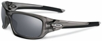 Oakley Valve Sunglasses with Matte Grey Smoke Frame and Black Iridium Polarized Lenses