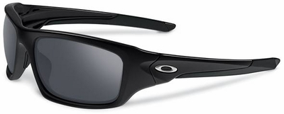 Oakley Valve Sunglasses with Polished Black Frame and Black Iridium Lenses
