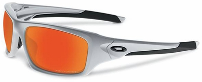 Oakley Valve Sunglasses with Silver Frame and Fire Iridium Polarized Lenses