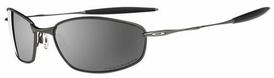 Oakley Whisker Sunglasses with Pewter Frame and Polarized Black Iridium Lens