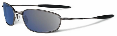 Oakley Whisker Sunglasses with Pewter Frame and Polarized Ice Iridium Lens