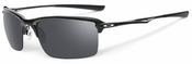Oakley Wiretap Sunglasses with Polished Black Frame and Black Iridium Lens