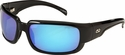 ONO'S Araya Polarized Sunglasses with Black Frame and Blue Mirror Lens