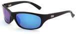 ONO'S Carabelle Polarized Bifocal Sunglasses with Black Frame and Blue Mirror Lens