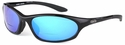 ONO'S Grand Lagoon Polarized Bifocal Sunglasses with Black Frame and Blue Mirror Lens