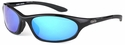 ONO'S Grand Lagoon Polarized Sunglasses with Black Frame and Blue Mirror Lens