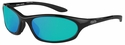 ONO'S Grand Lagoon Polarized Sunglasses with Black Frame and Green Mirror Lens