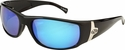 ONO'S Oreti Polarized Sunglasses with Black Frame and Blue Mirror Lens