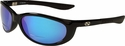 ONO'S Petit Boy Polarized Bifocal Sunglasses with Black Frame and Blue Mirror Lens