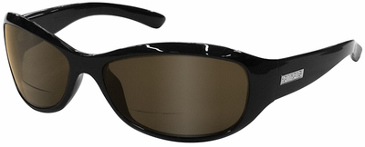 ONO'S Vieux Carre Polarized Bifocal Sunglasses Black Frame and Amber Lens
