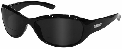 ONO'S Vieux Carre Polarized Bifocal Sunglasses Black Frame and Gray Lens