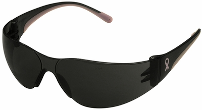 PIP Eva Petite Women's Safety Glasses with Pink Temple Trim and Gray Lens