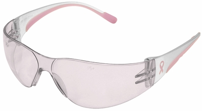PIP Eva Petite Women's Safety Glasses with Pink Temple Trim and Pink #1 Lens