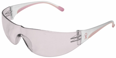 PIP Eva Women's Safety Glasses with Pink Temple Trim and Pink #1 Lens