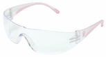 PIP Lady Eva Women's Bifocal Safety Glasses with Pink Temple Trim and Clear Anti-Fog Lens