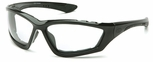 Pyramex Accurist Safety Glasses with Black Frame and Clear Anti-Fog Lens