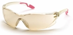 Pyramex Achieva Safety Glasses with Pink Temple Tips and Indoor/Outdoor Lens
