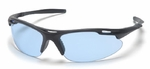 Pyramex Avante Safety Glasses with Black Frame and Infinity Blue Lens