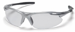 Pyramex Avante Safety Glasses with Silver Frame and Clear Lens