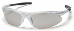 Pyramex Avante Safety Glasses with Silver Frame and Indoor-Outdoor Lens