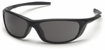 Pyramex Azera Safety Glasses with Black Frame and Gray Lens