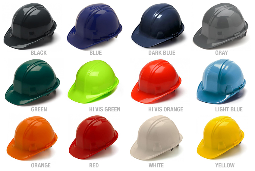 Pyramex Cap Style Hard Hat with 4-Point Ratchet Suspension