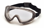 Pyramex Capstone Direct/Indirect Vent Goggles with Gray Frame and Clear Anti-Fog Lens