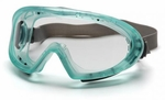 Pyramex Capstone Direct/Indirect Vent Goggles with Green Frame and Clear Anti-Fog Lens