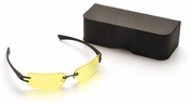 Pyramex Digital Vision Eyewear with Black Temples and Yellow AR Lens