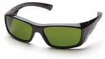 Pyramex Emerge Safety Glasses with Black Frame and IR Shade 3.0 Lens