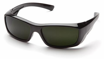Pyramex Emerge Safety Glasses with Black Frame and IR Shade 5.0 Lens