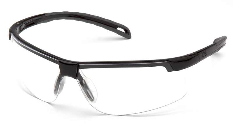 Pyramex Ever-Lite Safety Glasses with Black Frame and Clear Lens