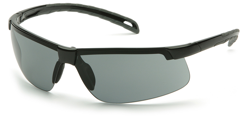 Pyramex Ever-Lite Safety Glasses with Black Frame and Gray Lens