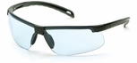 Pyramex Ever-Lite Safety Glasses with Black Frame and Infinity Blue Lens