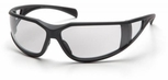 Pyramex Exeter Safety Glasses with Gray Frame and Clear Anti-Fog Lens