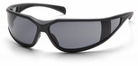 Pyramex Exeter Safety Glasses with Gray Frame and Gray Anti-Fog Lens