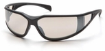 Pyramex Exeter Safety Glasses with Gray Frame and Indoor-Outdoor Anti-Fog Lens