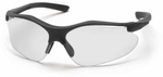Pyramex Fortress Safety Glasses with Black Frame and Clear Lens