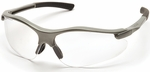 Pyramex Fortress Safety Glasses with Gray Frame and Clear Lens