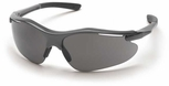 Pyramex Fortress Safety Glasses with Gray Frame and Gray Lens
