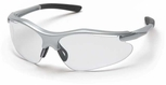 Pyramex Fortress Safety Glasses with Silver Frame and Clear Lens