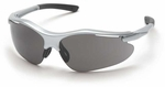 Pyramex Fortress Safety Glasses with Silver Frame and Gray Lens