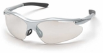 Pyramex Fortress Safety Glasses with Silver Frame and Indoor-Outdoor Lens