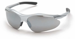 Pyramex Fortress Safety Glasses with Silver Frame and Silver Mirror Lens