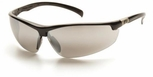 Pyramex Forum Safety Glasses with Black Frame and Silver Mirror Lens