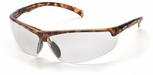 Pyramex Forum Safety Glasses with Tortoise Frame and Clear Lens