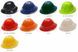 Pyramex Full Brim Hard Hat with 4-Point Ratchet Suspension