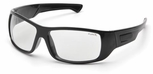 Pyramex Furix Safety Glasses with Black Frame and Clear Anti-Fog Lens