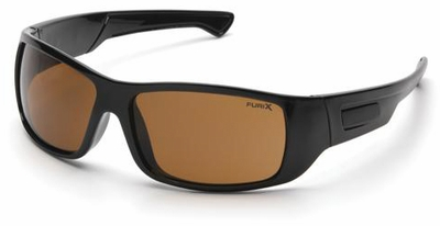 Pyramex Furix Safety Glasses with Black Frame and Coffee Anti-Fog Lens